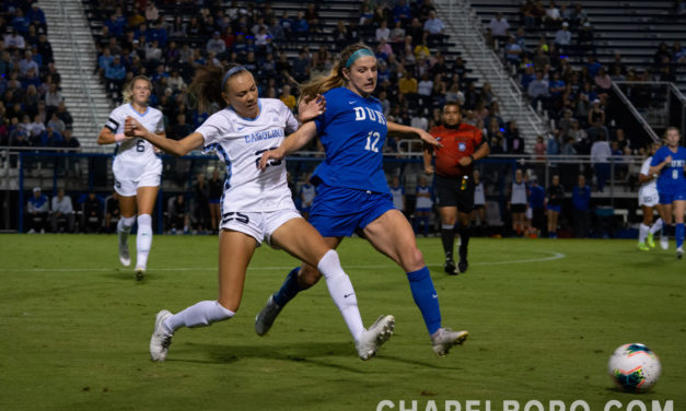 Women's Soccer: No. 3 UNC and No. 11 Duke Play to Scoreless Draw