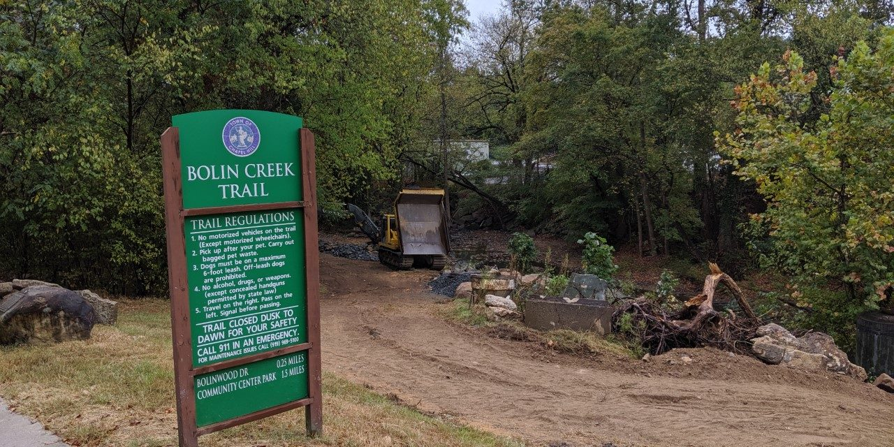 Construction, Renovation of Bolin Creek Trail Resumes After Delays