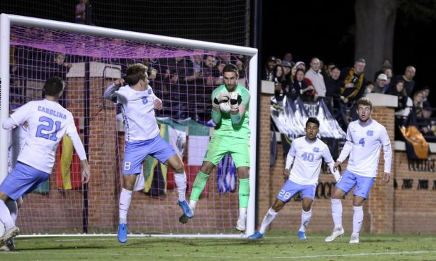 No. 19 UNC Men's Soccer Downed at No. 4 Wake Forest