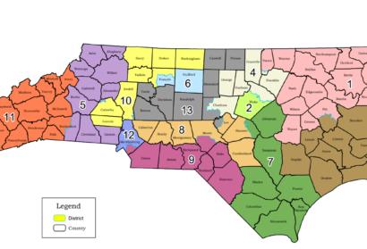 N Carolina Congress Remap Proposal Threatens 2 Incumbents