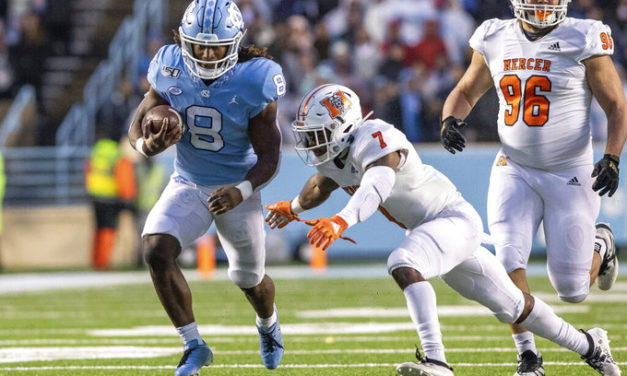 UNC Football Dismantles Mercer for Senior Day Victory