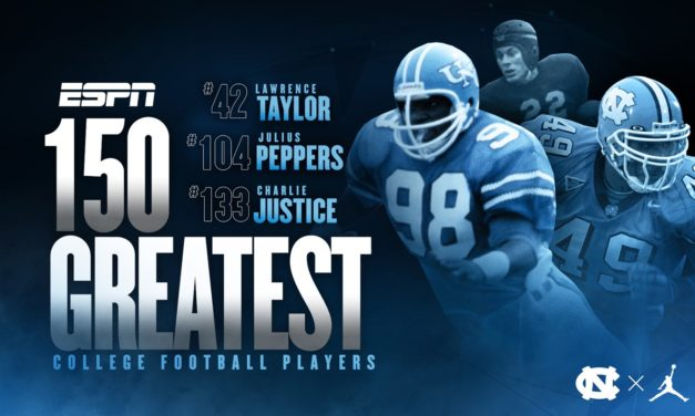 Three Tar Heels Selected to ESPN's Greatest 150 College Football Players List