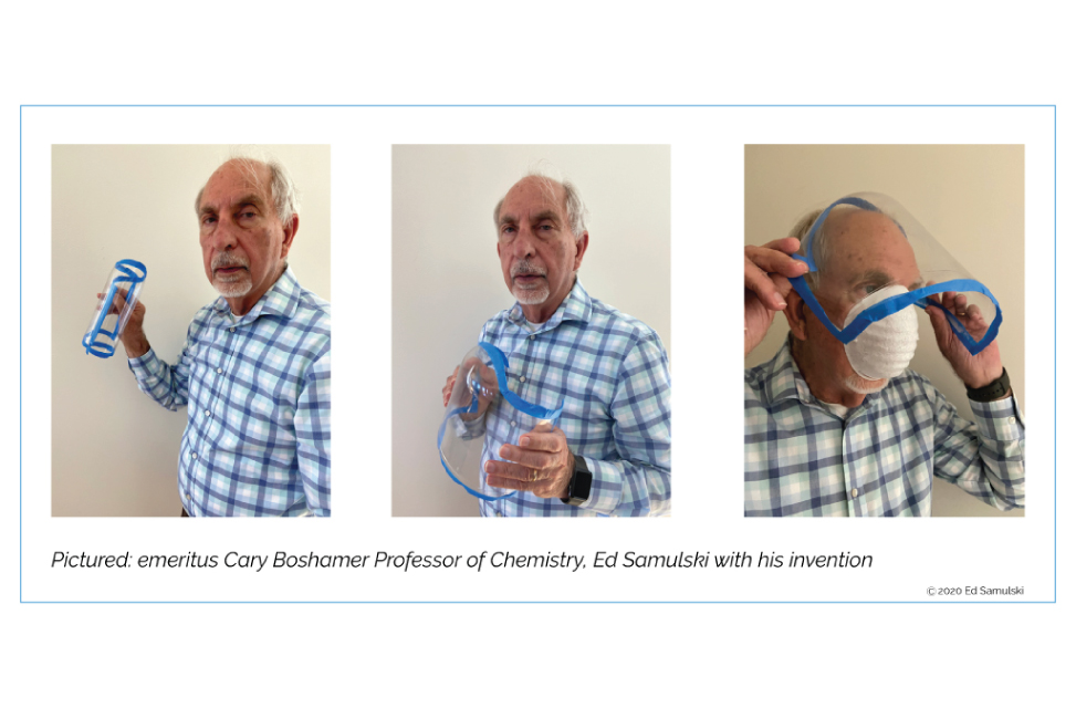 UNC Chemistry Scholar Shows You How to Make a DIY Emergency Face Shield