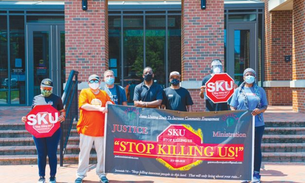 'Stop Killing Us' Group Organizes at Chatham County Justice Center, Denounces White Supremacy