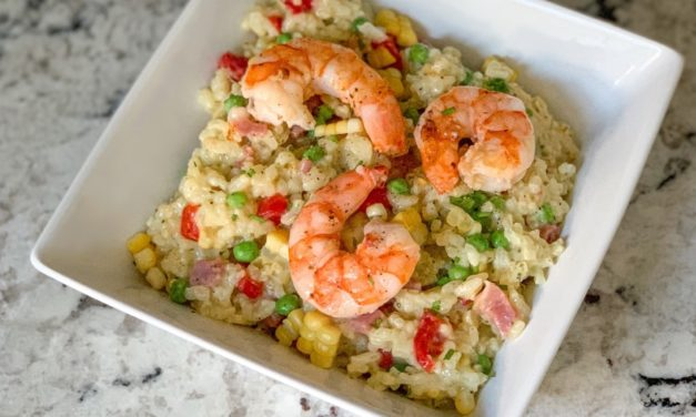 Make It Snappy: Summer Shrimp and Corn Risotto