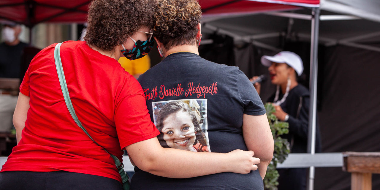 Group Gathers to Remember Faith Hedgepeth, Other Indigenous Women