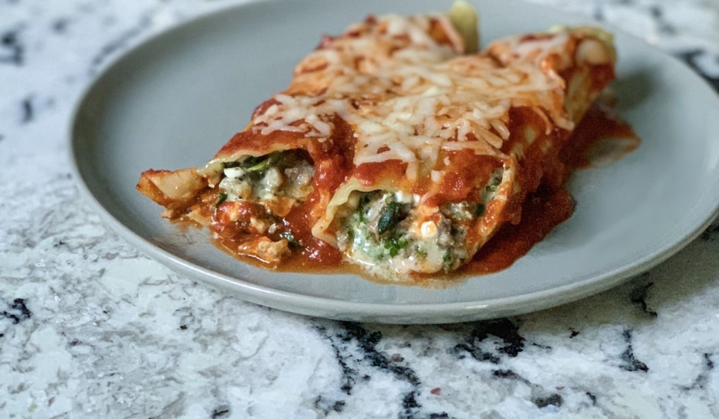 Make It Snappy: Sausage and Spinach Manicotti