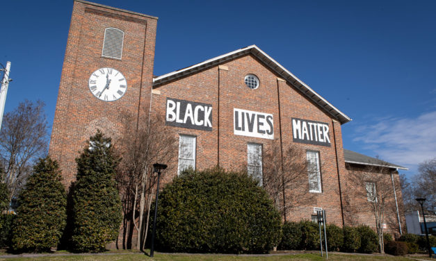 Carrboro Completes Black Lives Matter Mural on Century Center