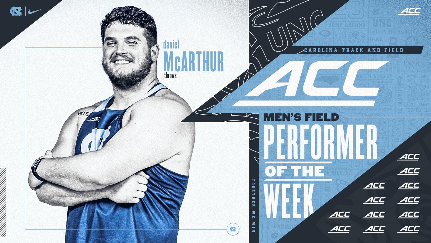 UNC's Daniel McArthur Named ACC Field Performer of the Week