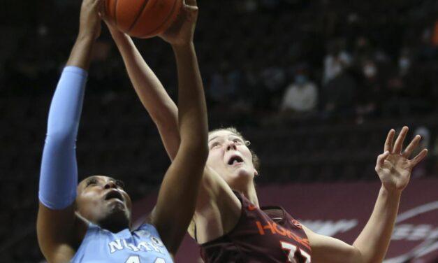 Women's Basketball: UNC Fights Back to Top Virginia Tech in Regular Season Finale