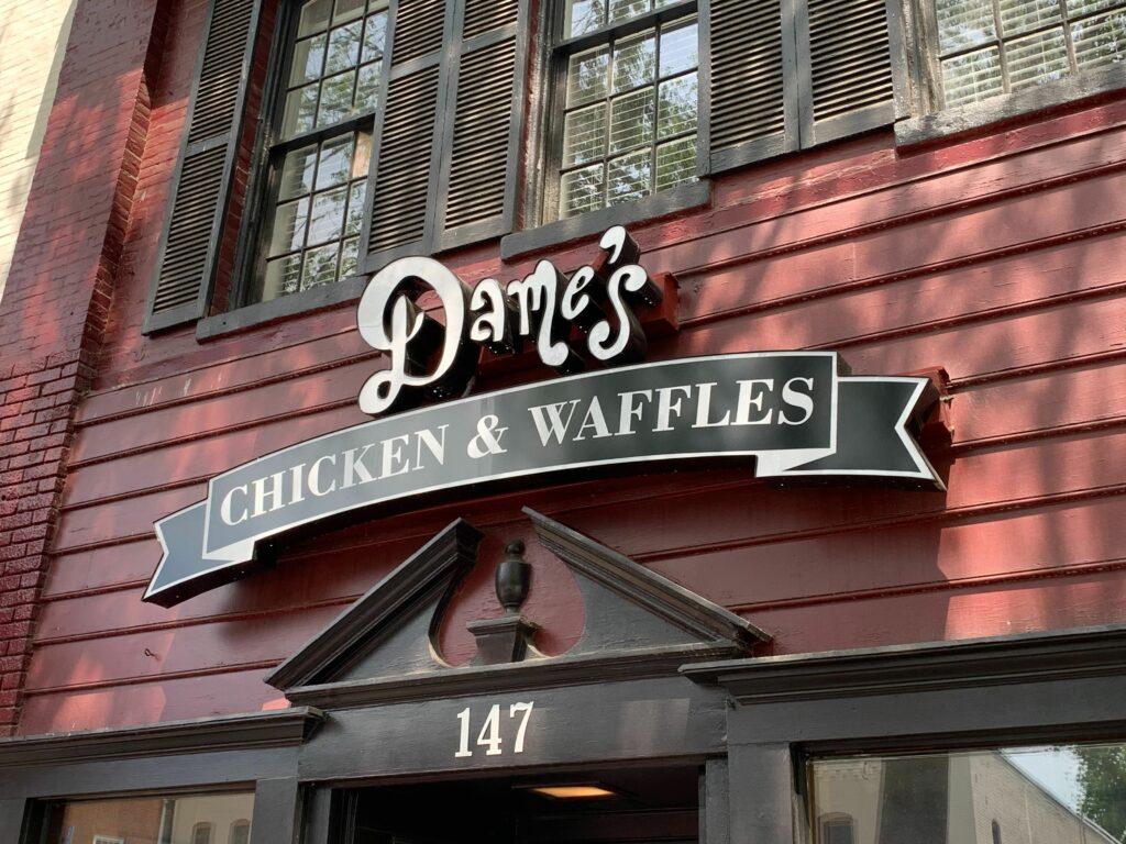 Dame's Chicken & Waffles Opens on Franklin Street