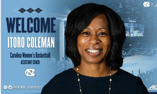 Itoro Coleman Hired as UNC Women's Basketball Assistant Coach
