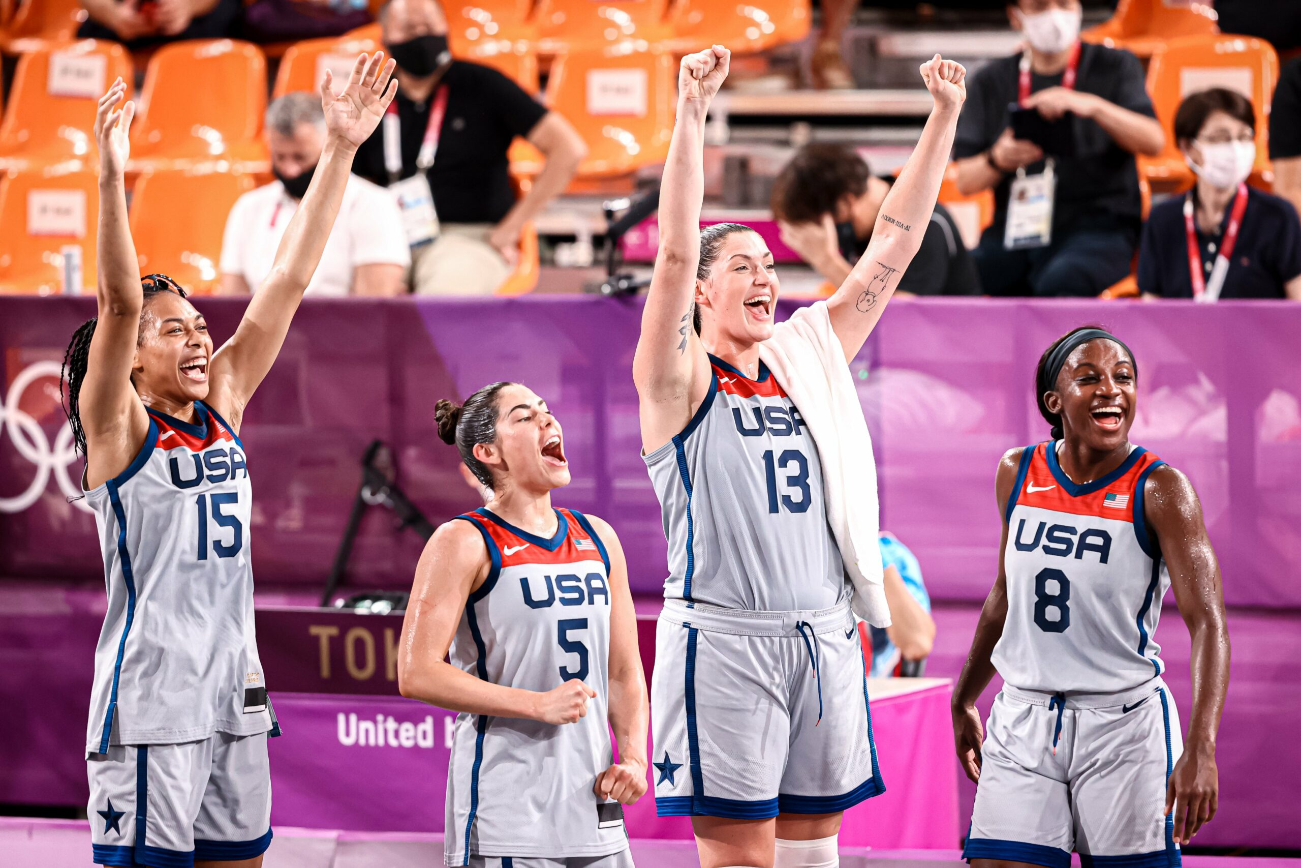 Former UNC Player Allisha Gray Wins Olympic Gold Medal in 3x3 Basketball
